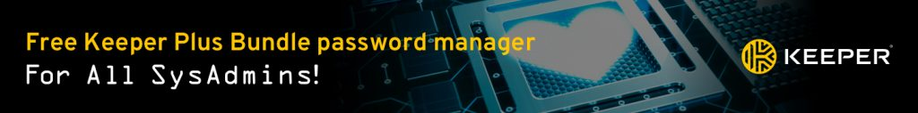 SysAdmin Day Keeper Security Password Manager