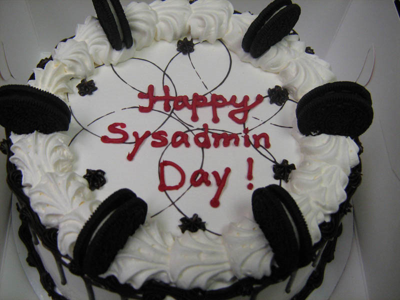 SysAdmin Day Cake